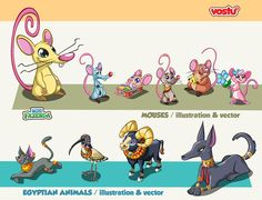 Animals Character Design / MINIFAZENDA on Behance