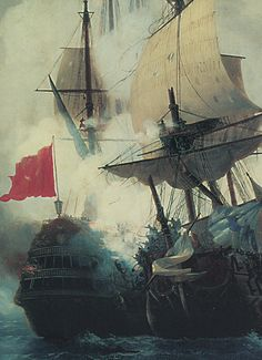 Ivan Aivazovsky, The Battle of Chios on 24 June, 1770 (detail), 1848