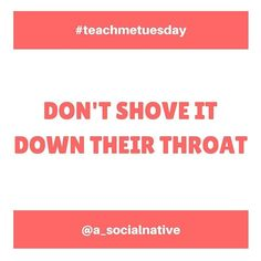 "#teachmetuesday - ""Don't shove it down their throat"" - I'm a social media manager that's going to tell you NOT to be overly-salesy in EVERY post. There are a lot of people who will be against this idea but hear me out. If you were following an account because you liked the brand but in every post they were telling you to make buy buy buy... how would you feel? I've seen accounts that overdo the sales pitch and I instantly unfollow them! And guess what? If you lose a follower it's going to be…"