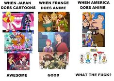 Anime Vs Cartoon, Trivia, Funny Pictures, Funny Pics, Movie Tv, Otaku, Pop Culture, Comedy, Animation