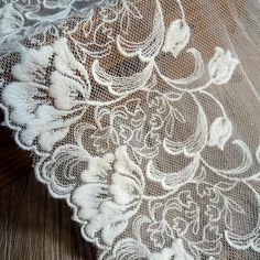 3 Yards of Vine Floral Embroidery Lace Fabric Pure cotton width, 3 yards length Soft net Perfect for dress and skirt hem, sleeves, upholster decor etc Floral Embroidery, Embroidery Designs, Embroidery Fabric, Wedding Dress Accessories, Linens And Lace, Needle Lace, Lace Patterns, Antique Lace, Paisley Pattern