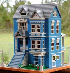 Lego villa  ;) I am Grandma Blue House!