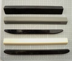 5 Space Bars from Vintage Typewriters for use in Crafts - Art - Jewelry - Steam Punk - Project - Supplies - Plastic