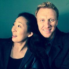 Sandra Oh and Kevin McKidd