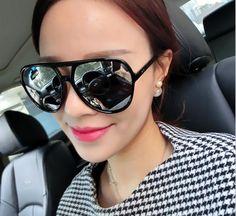 VWKTUUN Twin Beam Womens Sunglasses Vintage Bif Sun Glasses For Men Mirror Glasses Oversized SunglasEs Female Male Sport Eyewear  #beauty #iwant #stylish #pretty #model #fashionista #dress #beautiful #fashion #love