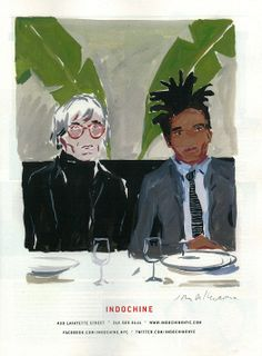 CLIP ART: Jean Michel-Basquiat / Andy Warhol / Magazine Ad for Indochine Restaurant | Black Artist News