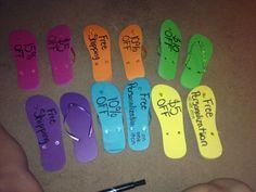 Flip flop idea.  www.mythirtyone.com / 426502