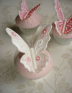 royal icing butterflies by Darcy's Cupcake Creations, via Flickr