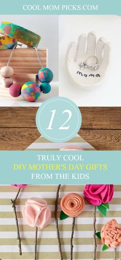 Click over to see creative DIY Mother's Day gifts from the kids that turn into lovely handmade keepsakes she'll save forever. | Cool Mom Picks