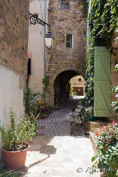 Quaint Little Street, Roquebrune sur Argens, Provence