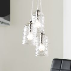 You'll love the Hammered Glass Cluster 3 Light Kitchen Island Pendant at Wayfair - Great Deals on all Home Improvement products with Free Shipping on most stuff, even the big stuff.