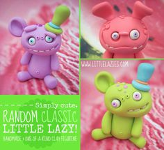 Little Lazies are so adorable!  https://www.etsy.com/listing/90722261/random-classic-little-lazy