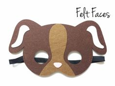 Puppy Dog Mask, Kids Animal Party Favors, Animal Themed Party Decorations, Puppy Party Ideas