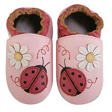 Momo Baby Soft Sole Baby Shoes - Ladybug Pink  If you want a developmentally appropriate shoe for infant or early walker these soft soled shoes are the way to go. :)