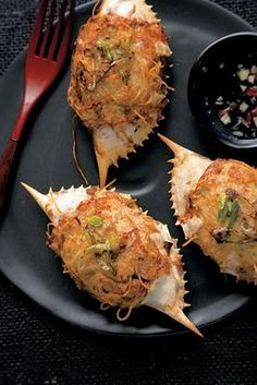 New Orleans stuffed crab recipe...oh my goodness that looks yummy. Love Southern food