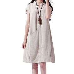 Hey, I found this really awesome Etsy listing at https://www.etsy.com/listing/197102002/beige-women-cotton-linen-sundress-korea