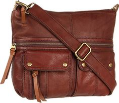 Fossil Morgan Top Zip Cross Body Bag, Espresso, One Size -- More info could be…