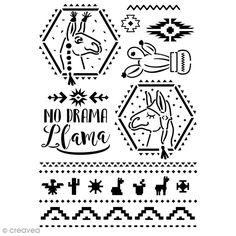 Compra nuestros productos a precios mini Plantilla multiusos A4 - No Drama Llamas - Entrega rápida, gratuita a partir de 89 € ! Kit S, No Drama, Llamas, Stencils, Cactus, Mini, Useful Life Hacks, Crafts For Kids, Impressionism