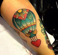 Alex Strangler hot air balloon tattoo