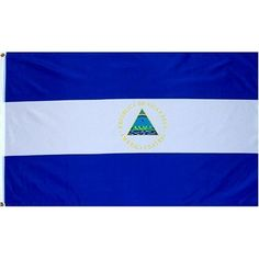 Nicaragua Flag Polyester 3 ft. x 5 ft. by Flags Unlimited. $5.35. Nicaragua 3ft x 5ft Printed Polyester Flag. This 3ft x 5ft Nicaragua Flag is a printed flag that is made of a good quality polyester. It has been finished with a strong header with brass grommets and it is okay for indoor or outdoor use. At great prices like these you won't want to pass it up.. Save 73%!