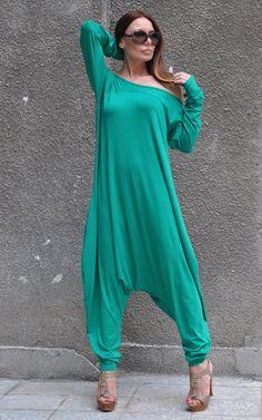 New SS/15 Jumpsuit Maxi Loose Jumpsuit Drop Crotch by EUGfashion