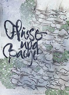Berliner Sammlung Kalligraphie: Katharina Pieper: Über das Wasser (2008)