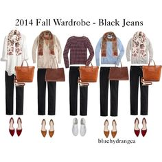 """Fall Wardrobe - Black Jeans"" by bluehydrangea on Polyvore"