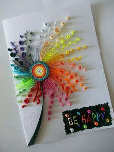 Quilling for Birthday Cards Paper Quilling Cards, Arte Quilling, Paper Quilling Flowers, Paper Quilling Patterns, Quilled Paper Art, Quilling Craft, Quilling Birthday Cards, Card Birthday, Origami