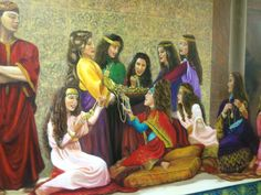 This beautiful mural is painted on the wall of Central Fort Myers Florida Congregation newly renovated Kingdom Hall.