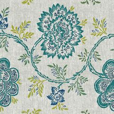 Bethany is the latest print in our Hot off the Press range, a beautiful traditional floral pattern. Textiles, Turquoise, Hot, Floral, Fabric, Prints, Pattern, Collection, Design
