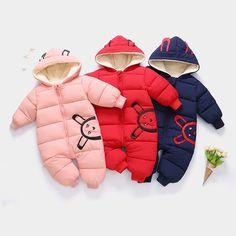 863ec8ddd 2018 bebé Bebé Ropa nueva ropa de invierno cálido con capucha mamelucos de  bebé grueso traje