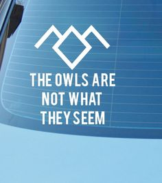 The Owls Are Not What They Seem Decal Flying Owl Car Or Laptop - Owl custom vinyl decals for car