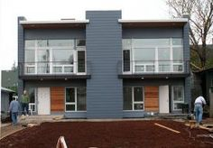 A very tidy 2 - unit townhouse project by Portland's Design/Build team 'PDX Living'