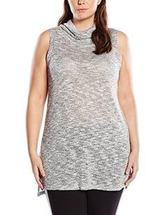 ffd5f8bbc36 NEW LOOK Womens PlusSize Sleeveless Cowl Neck Top Grey 2420  gt  gt  gt
