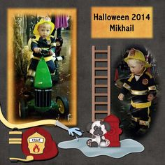 Mikhail dressed up as a fireman for Halloween, October 2014. Kit used:  911 by Charly Renay Designs Kit link:  GDS: http://www.godigitalscrapbooking.com/shop/index.php?main_page=product_dnld_info&cPath=29_273&products_id=28491