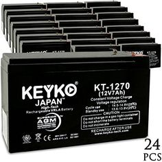 KEYKO Genuine KT1270 12V 7Ah Battery SLA Sealed Lead Acid  AGM Replacement  F1  F2 Terminal  24 Pack >>> Details can be found by clicking on the image. Note: It's an affiliate link to Amazon