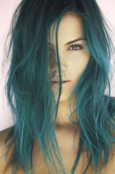 Teal hair is very brave indeed. But if you are this gorgeous ...