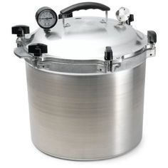 Very detailed description of the Pros and Cons of Pressure / Canner cookers, water bath canning, and the tools needed to safely operate them.