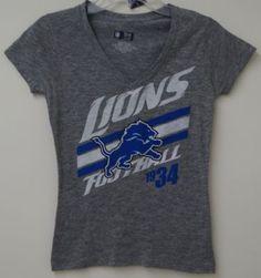 6b495ece8 Detroit Lions Womens Victory Play IV Deep V Slub T-Shirt