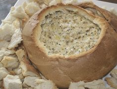 Your Inspiration at Home Warm Artichoke Cobb Loaf. A YIAH favourite! #YIAH #artichokedip