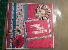 card using sew lovely range from docrafts