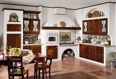 Where to place the oven? Wooden Kitchen, Rustic Kitchen, Country Kitchen, Kitchen Furniture, Kitchen Interior, Home Furniture, Furniture Ideas, Living Place, Home And Living