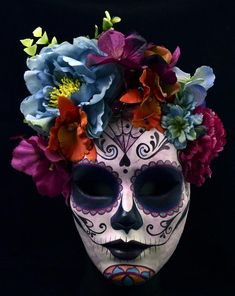 Catrina Mask Made To Order Coco Costume Dia De Los Muertos Paper Mache Mask Mexican Mask Masquerade Party Home Decor - Halloween Makeup Halloween Eye Makeup, Halloween Eyes, Maquillage Halloween, Halloween Diy, Sugar Skull Halloween, Halloween Signs, Mexico Day Of The Dead, Day Of The Dead Mask, Day Of The Dead Skull