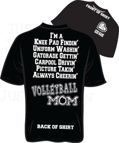 VolleyBall Mom Bling T-Shirt PLEASE SEE DESCRIPTION before ordering. $27.95, via Etsy.