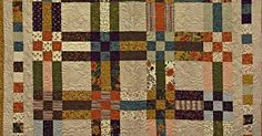 Two Different Blocks Come Together To Make This Nine Patch Fence Rail Quilt!