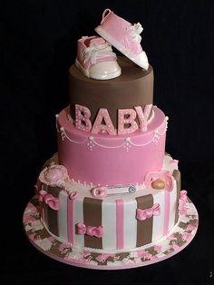 Baby girl shower cake ... So cute