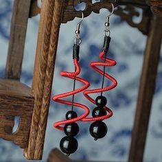 Aliexpress.com : Acquista 2015 nuove donne da sposa orecchino naturale gioielli di moda etnica disegno speciale elasticità vendita al dettaglio all'ingrosso orecchini di goccia d059 da Fornitori earrings nickel affidabili su Fashion Jewelry & Accessories Store