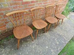 4 ERCOL SOLID ELM AND BEECH DINING CHAIRS CHILTERN *FREE DELIVERY VINTAGE RETRO Ercol Furniture, Free Delivery, Retro Vintage, Dining Chairs, Home Decor, Decoration Home, Room Decor, Dining Chair, Interior Decorating