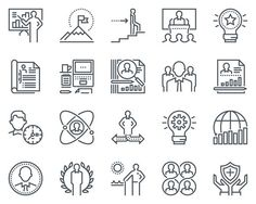 Business icon set. Human Icons. $8.00