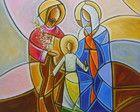 Pintura Sagrada Família 50x60 Cod 736